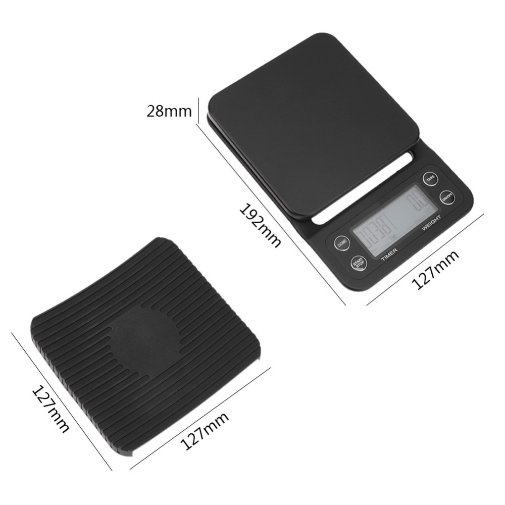 Portable 3kg/0.1g 5kg/0.5g Drip Coffee Scale With Timer Electronic Digital Kitchen Scale High Precision LCD Electronic Scales