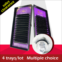All 4 Box Long False Fake Eyelashes Eye Lashes Natural Handmade Black Individual Mink Eyelash Extension