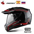 Otomobiller ve Motosikletler'ten Kasklar'de NENKI siyah motosiklet kask motosiklet tam yüz kask Motocross erkekler maceraları yokuş aşağı DH yarış kasko Moto kask DOT #
