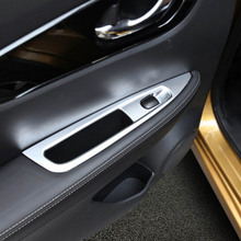 door armrest penal window glasses regulate lift button switch sticker cover trim for nissan xtrail x-trail Interior Accessories