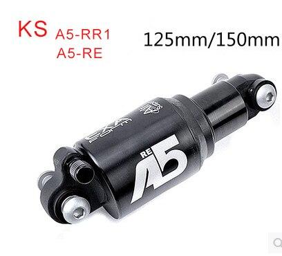 Tipo de choque ks A5-RR1 RE macio carro dispositivo de absorção de choque ajustável 125mm 150mm da bicicleta da suspensão traseira choque