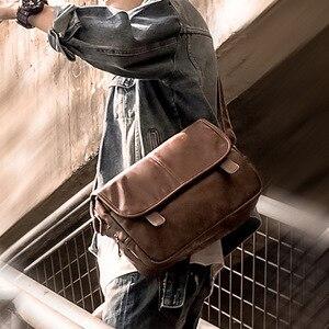 Image 3 - חדש יוקרה מותג שליח תיק גברים עור Crossbody שקיות לגברים עסקי משרד צד תיק עבודה מזדמן כתף תיק זכר תיק