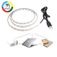 Coversage RGB USB 5050 Led Strip DC 5V 30Leds/M TV Background Waterproof Flexible Light Home Decoration Lamp Flat Screen LCD(China)