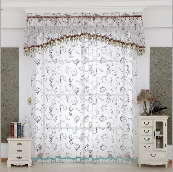 Buy european luxury window embroidered for Tende in voile