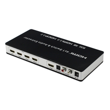 New HDMI 2.0 Switch 4×1 HDMI Switch 4 in 1 out  with Audio Extractor Toslink/SPDIF RCA Support 4Kx2K@60Hz HDMI2.0 HDCP2.2 7.1CH