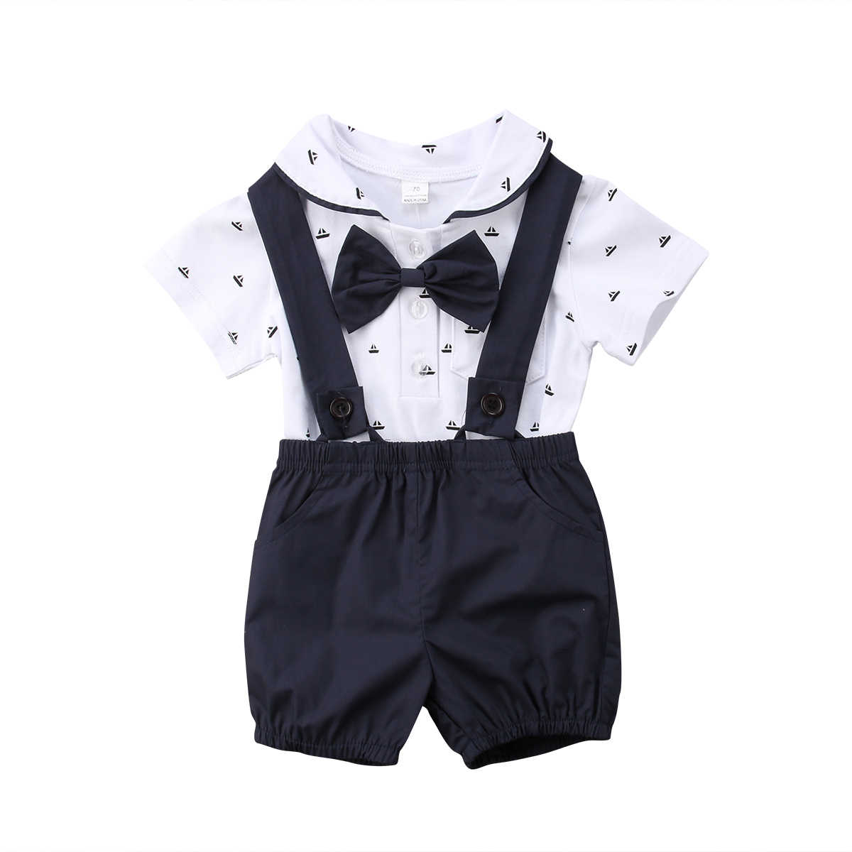 550f58818e9 Detail Feedback Questions about 2018 Summer Newborn Kid Baby Boy Gentleman  Outfit Clothes Romper Jumpsuit Bib Shorts Black Red Set on Aliexpress.com  ...