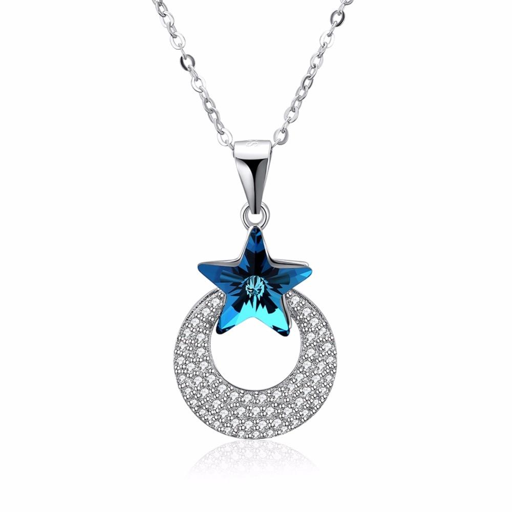 Luna ana corazón colgantes collares hechos con cristal de Swarovski - Joyas - foto 1