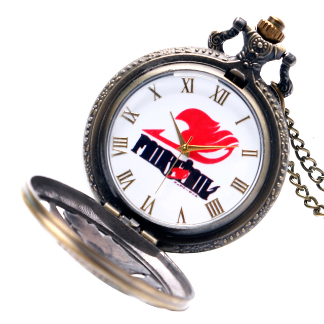 Fairy Tail Vintage Quartz Watch With Necklace Chain