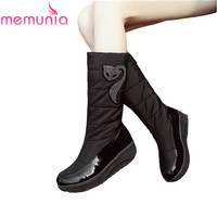 MEMUNIA Fashion New Arrive Women Boots Platform Black Brown Snow Boots Down Waterproof Mid Calf Boots