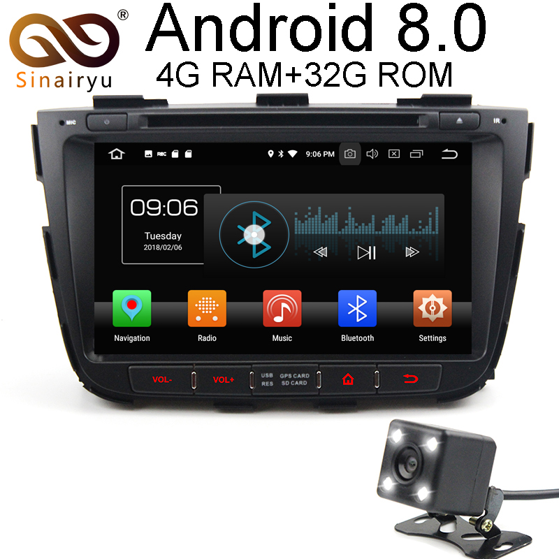 Sinairyu Android 8,0 8 Core 4 ГБ Оперативная память автомобильный DVD gps для Kia Sorento 2012 2013 2014 WI-FI Авторадио мультимедиа Стерео