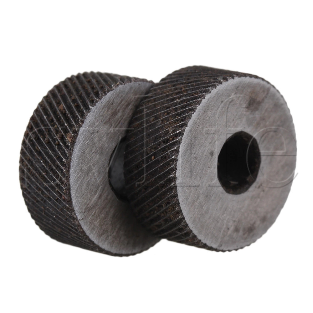 2PCS 0.8mm Pitch Diagonal Coarse 19mm OD Knurling Wheel Roller Tool Steel