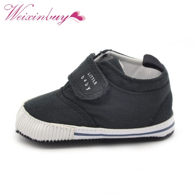Newborn Baby Boys Cotton Ankle Canvas High Crib Shoes Casual Sneaker Toddler First Walkers 1