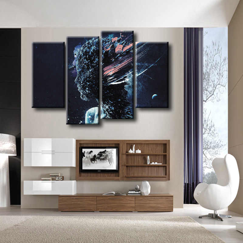 Wholesale Top Sale 4 Pcs/Set Artist Canvas Abstract poster series Canvas Prints Wall Pictures for Living Room Picture/ZT-3-45