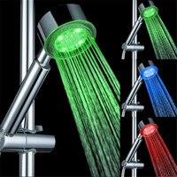 高品質3色ledシャワーヘッド温度センサーrgb風呂スプリンクラ