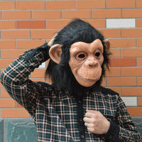 Hot 1 Pcs Fashion Monkey Mask Funny Adult Animal Costume Head Halloween Party Fancy Dress Free