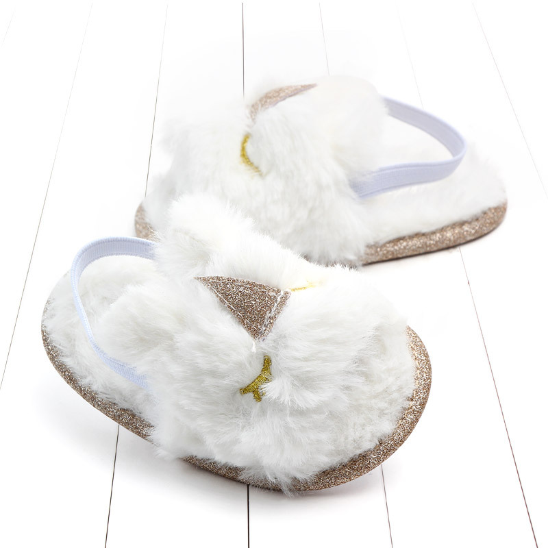 Baby sandals girls baby summer Kids Shoes Lovely Plush Toddler Princess Non-slip Crib Slippers Kids Gifts baby summer shoes Gift (4)