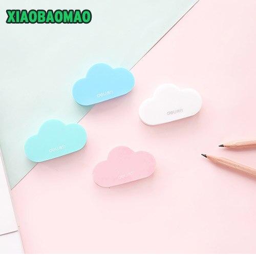 Cloud Shaped Rubber Eraser For Kids Pencil Eraser 58X35X7mm 4 Colors School Office Supplies Student Children's PaintingsXLG699