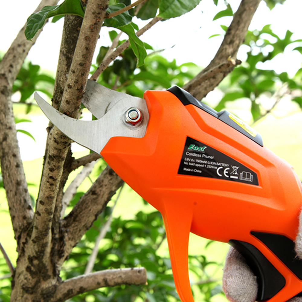 Electric Pruning Shear Rechargeable Home Garden Scissors Cordless Secateur Fruit Tree Branches Cutter 3.6V 1.5AH купить