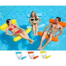 цена на Inflatable Pool Float Bed Lounger Floating Bed Seat Floating Chair Hammock Bed Pool Kids Adult Party ToyS Summer Beach Party Fun