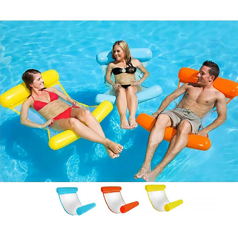 Inflatable Pool Float Bed Lounger Floating Bed Seat Floating Chair Hammock Bed Pool Kids Adult Party ToyS Summer Beach Party Fun