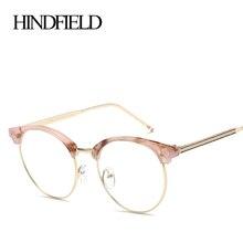 Модная брендовая оправа для очков HINDFIELD, женские брендовые ретро очки без оправы, оправы для очков oculos de grau
