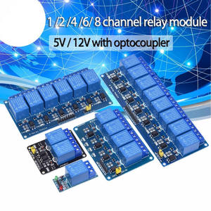 Relay-Module Arduino 5V 6 with Optocoupler-Relay Output-1 2-4 8-Way for 1-2-4 8-Channel