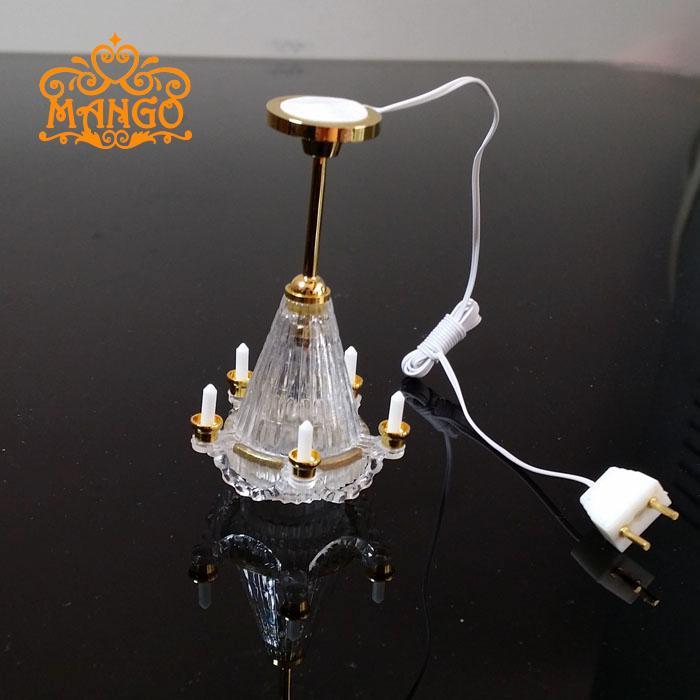 aliexpress koop 1 12 poppenhuis miniatuur hanglamp licht 5