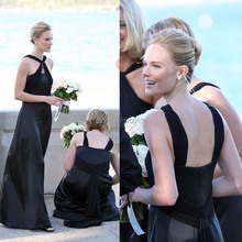 Sexy Backless Black Mermaid Floor Length Kate Bosworth Cheap Bridesmaid Dresses 2014 New Arrival
