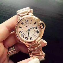 2016 famosa marca de diseño de lujo impermeable amantes de los relojes de Pulsera de Oro Relojes de los hombres con la Correa De Aleación Fina Mujeres Viste el Reloj