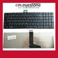 10 unids/lote alta calidad nuevo para toshiba satellite c850 c850d c855d c870 c870d c875d series rusia ru teclado negro