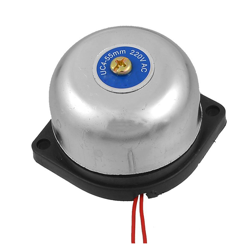 2 Pcs Of MOOL Silver Tone Metal Shell Fire Alarm Electric Bell 2inch AC 220V