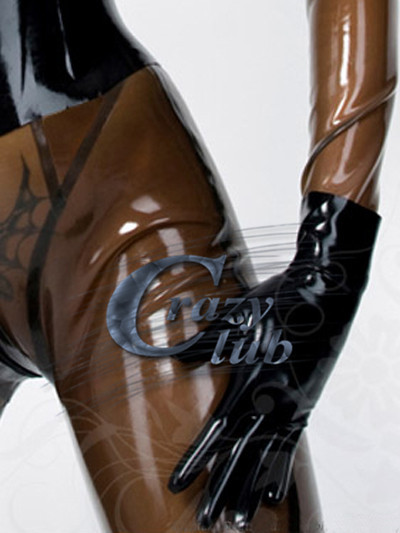 Crazy Club_New Arrival Limited Catsuit Real Sale Sexy Short Gloves Latex Practices Sexy Fetish Zentai Short Gloves Fast Delivery