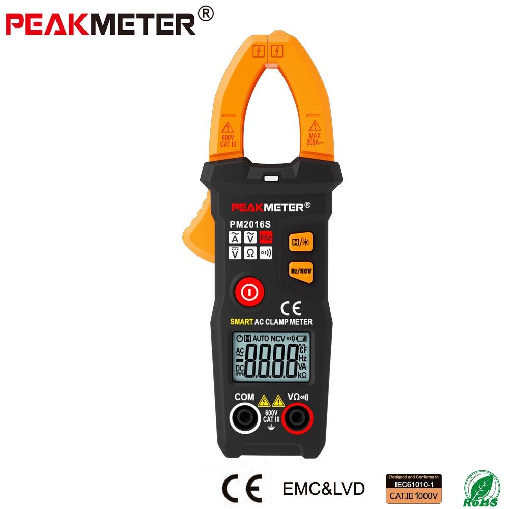 PM2016S Mini Digital AC Clamp Meter Multimeter mit Widerstand frequenz daten halten NCV Spannung Strom Widerstand tester