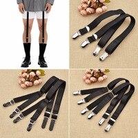 1 Pair Elastic Mens Shirt Holders Stays Crease Resistance Adjustable Garters Belt Leg Tirantes Hombre Men