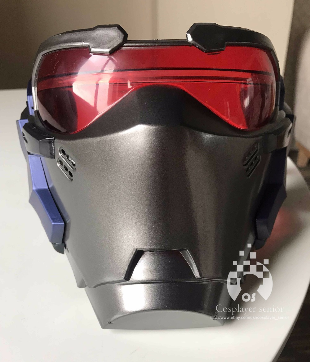 Overwatch Soldier 76 Led Luminous Mask Cosplay Helmet Prop Halloween Gift Party