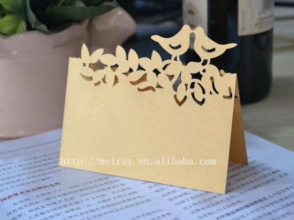 aliexpress com buy love birds name cards wedding place cards