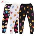 Sportlover Emoji corredores para as mulheres casual as calças dos homens suar calças calças emoji sorriso rosto bonito macaco 3d emoji sweatpants