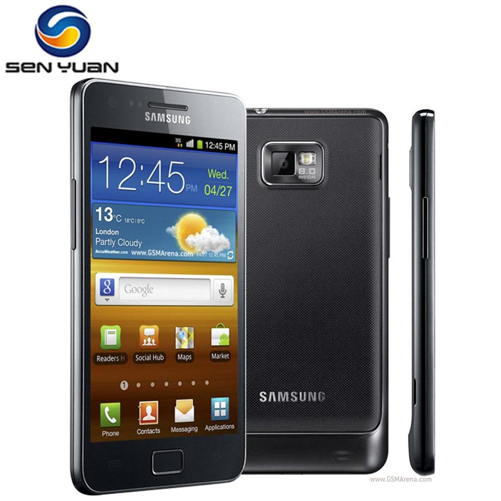 Оригинальный разблокированный Samsung GALAXY S2 I9100 мобильный телефон Android Wi-Fi GPS 8.0MP камера Core 4,3 ''1 Гб оперативной памяти, бесплатная доставка