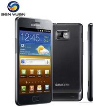 Orijinal Unlocked Samsung GALAXY S2 I9100 Cep Telefonu Android Wi-Fi GPS 8.0MP kamera Çekirdek 4.3 ''1 GB RAM Ücretsiz nakliye