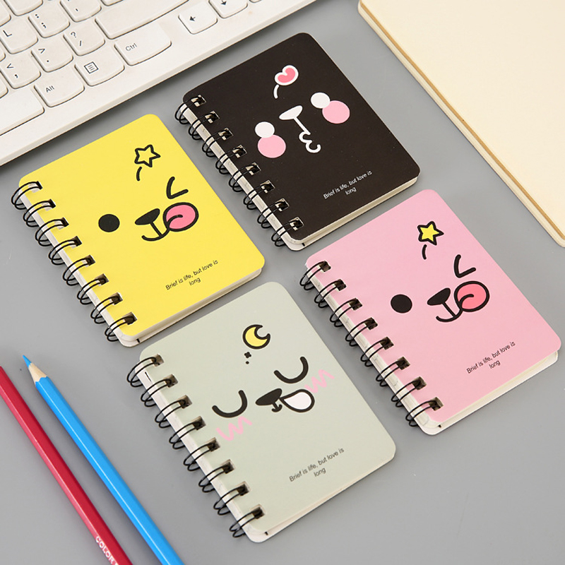 1 PCS Mini Cartoon Kawaii Notebook A7 Notebook 80 Page Paper Notepad Diary Writting Paper School Supplies Stationery