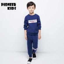 Pioneer Camp 2017 4 16Y Boy Clothes set Kids Tracksuit Teenage Boy Sports Suit Children Autumn