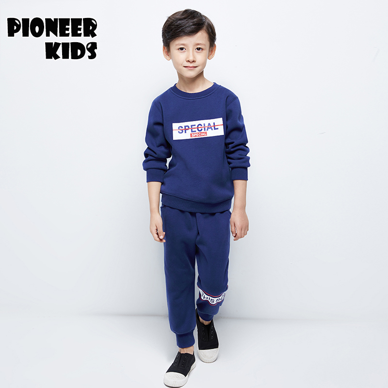 Pioneer Camp 2017 4-16Y Boy Clothes set Kids Tracksuit Teenage Boy Sports Suit Children Autumn/Winter Clothing Set 2pc Outfits