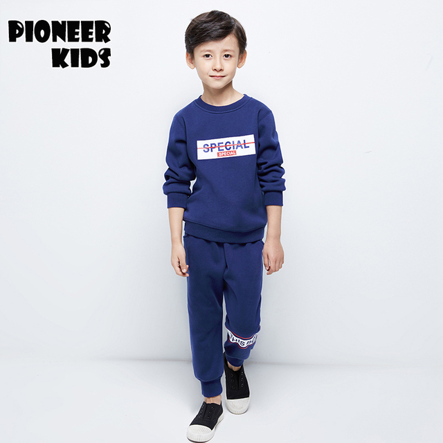 bb99b32c66f9 Pioneer Camp 4-16Y Boy Clothes set Kids Tracksuit Teenage Boy Sports Suit  Children Autumn/Winter Clothing Set 2pc Outfits