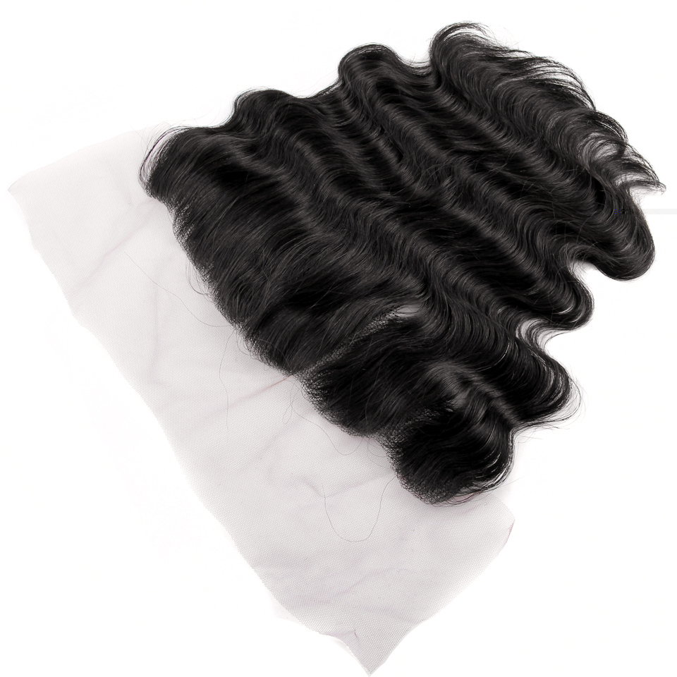 Yvonne Brazilian Virgin Hair Body Wave Bundles With Frontal Natural Color 3 Bundles Human Hair Weave With 13*4 Lace Frontal