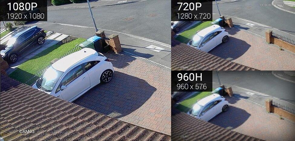 H.VIEW 4ch 1080p CCTV Camera System PoE H.265 CCTV Camera System 2mp Surveillance Kit PoE 48V Surveillance Kit Full HD (5)