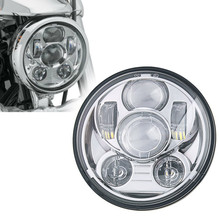 Free shipping 45W Chrome 5-3/4 5.75 inch Daymaker Projector LED Headlight for Harley Davidson Motorcycles Headlamp
