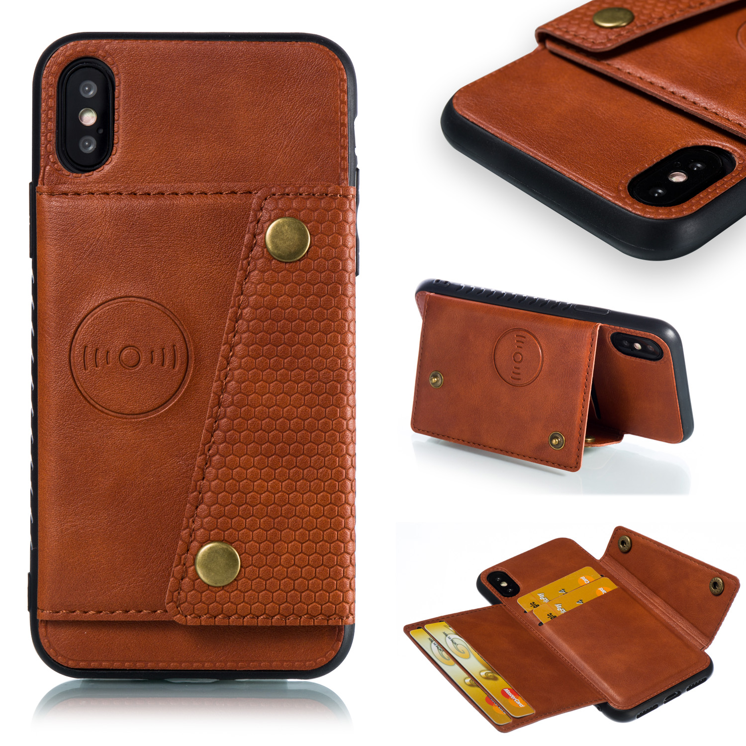 Multi Card Holders Wallet Case For iPhone 11 Pro Max Xs Max XR X Magnet Buckle Innrech Market.com