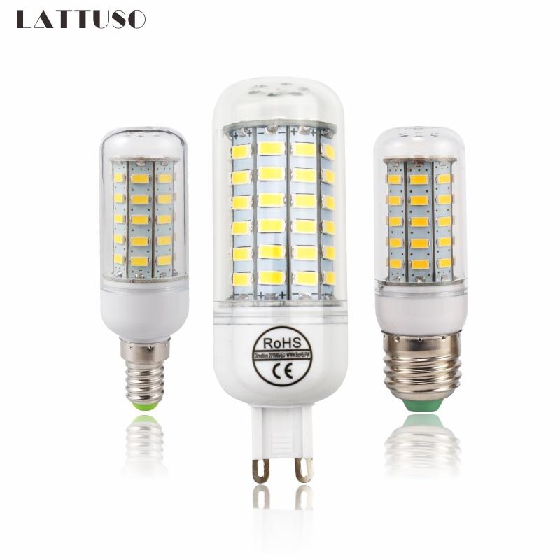 LATTUSO LED Lamp E27 E14 G9 Corn Light SMD 5730 Lampada LED Bulbs 220V Chandelier Candle Luz 24 36 48 56 69 72 LEDs Lights