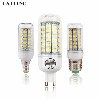 LATTUSO LED Lamp E27 E14 G9 Corn Light SMD 5730 Lampada Bulbs 220V Chandelier Candle Luz 24 36 48 56 69 72 LEDs Lights
