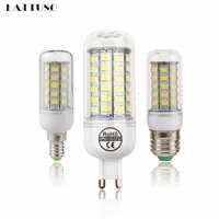 LATTUSO LED lámpara E27 E14 G9 Luz de maíz SMD 5730 bombillas LED de lampara 220V candelabro Luz de vela 24 36 48 56 69 72 LEDs luces